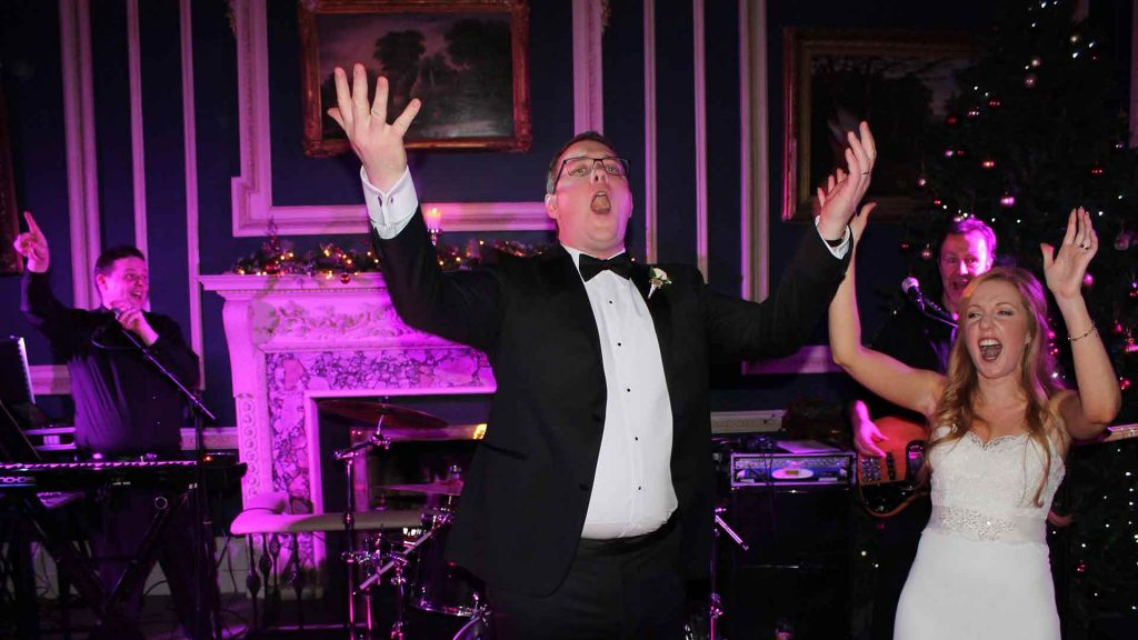 PLAYLIST with Gayle & Adam at their wedding in the Hibernian Club on the 31st December 2016